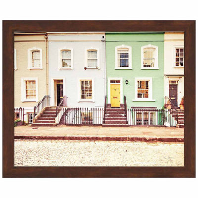 Metaverse Art Chelsea Houses All Lined Up Framed Print