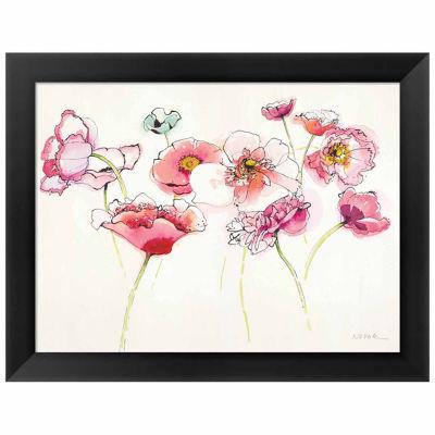 Metaverse Art Pink Somniferums Bright II Framed Print