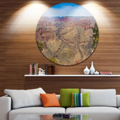Designart Grand Canyon National Park Landscape Metal Circle Wall Art