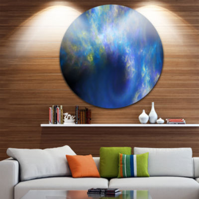 Designart Perfect Whirlwind Starry Sky Abstract Round Circle Metal Wall Art