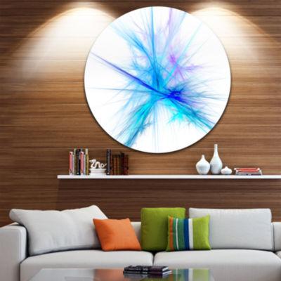 Designart Criss Cross Spectrum of Light Abstract Round Circle Metal Wall Art