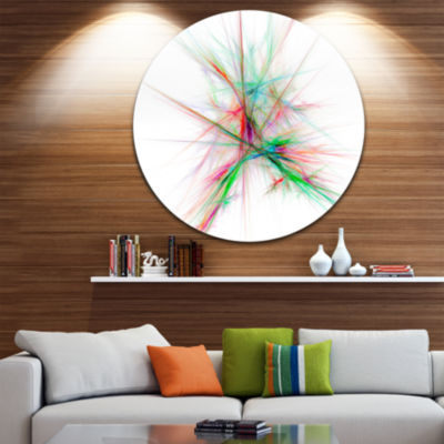 Designart Blue Red Spectrum of Light Abstract Round Circle Metal Wall Art