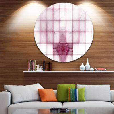 Designart Purple Bat on Rader Screen Abstract Round Circle Metal Wall Art