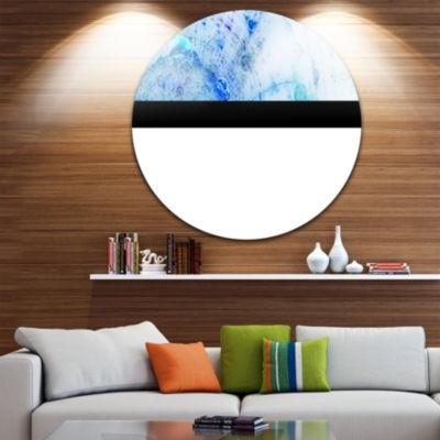 Designart World Bubbles Fractal Pattern Abstract Round Circle Metal Wall Art Panel