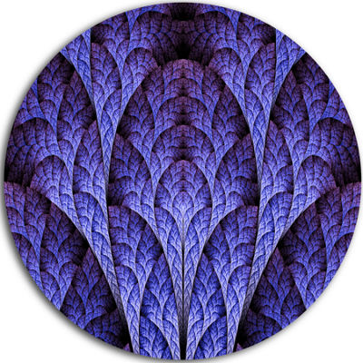 Designart Exotic Purple Biological Organism Abstract Art on Round Circle Metal Wall Art Panel