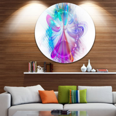 Designart Vortices of Energy Fractal Pattern Abstract Round Circle Metal Wall Art Panel