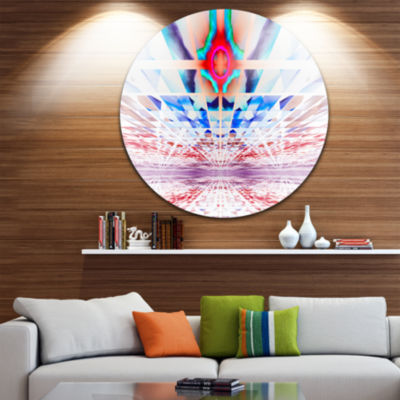 Designart Cosmic Horizons Apocalypse Abstract Round Circle Metal Wall Art Panel