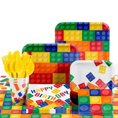 Creative Converting Building Blocks Birthday Party Supplies Kit