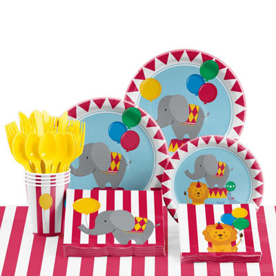 Creative Converting Circus Birthday Party Supplies Kit