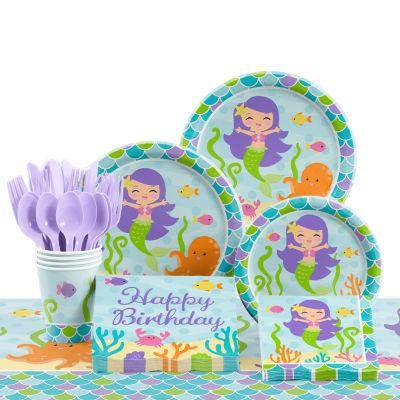 Creative Converting Mermaid Friends Birthday Party Supplies Kit