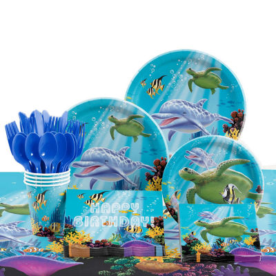 Creative Converting Ocean Birthday Party Supplies Kit