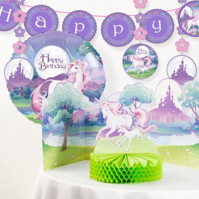 Creative Converting Unicorn Fantasy Birthday Party Decorations Kit