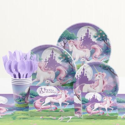 Creative Converting Unicorn Fantasy Birthday Party Supplies Kit