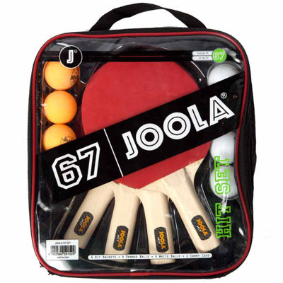 JOOLA All-in-One Table Tennis Hit Set (Includes 4Rackets; 8 Balls; Carrying Case)
