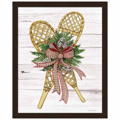 Metaverse Art Holiday Sports I on White Wood Framed Print