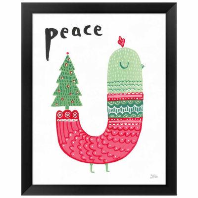Metaverse Art Christmas Tweets III Framed Print