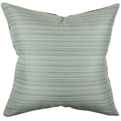 Blue Ticking Stripe Designer Throw Pillow - JCPenney