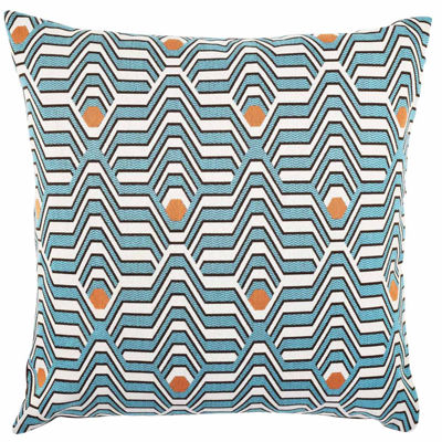 Throw Pillows By Olivia Joy Stclaire : Vesper Lane Teal and Orange Geometric Throw Pillow - JCPenney