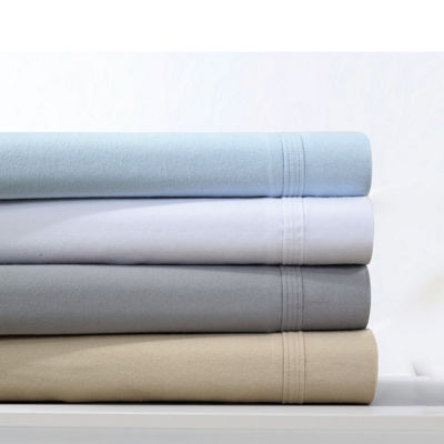 Tribeca Living Solid 220-GSM Solid Flannel Extra Deep Pocket Sheet Set