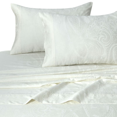 Tribeca Living Paisley Tone-on-Tone 300 Thread Count Cotton Extra Deep Pocket Sheet Set