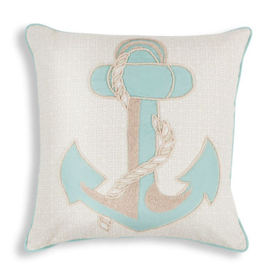 Kas Anchor Square Throw Pillow
