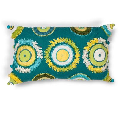 Kas Circles Rectangular Throw Pillow