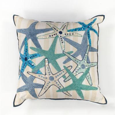 Kas Gala Square Throw Pillow