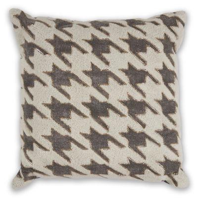 Kas Houdstooth Square Throw Pillow