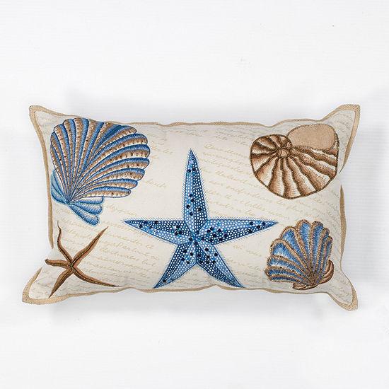 Kas Seashells Rectangular Throw Pillow