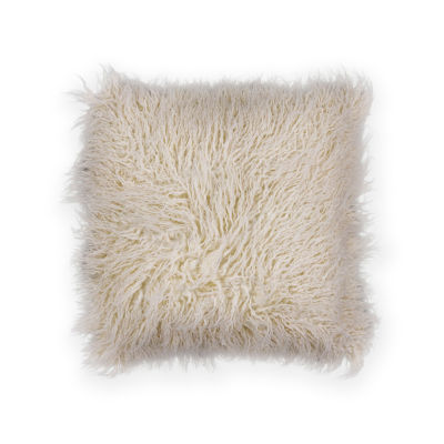 Kas Shaggy Square Throw Pillow