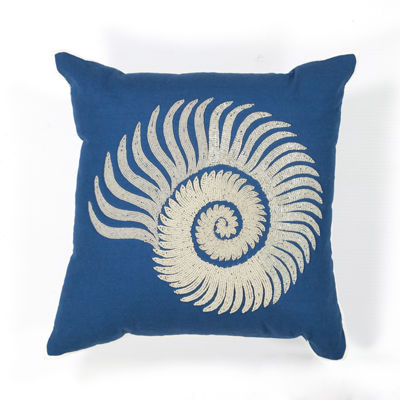 Kas Spiral Square Throw Pillow