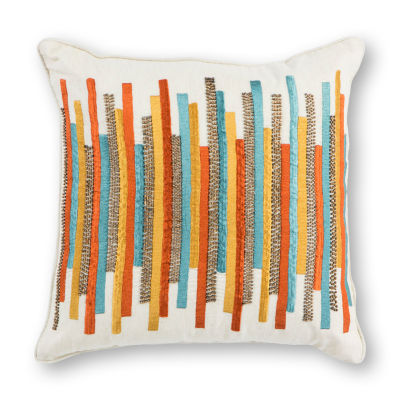 Kas Stripes Square Throw Pillow