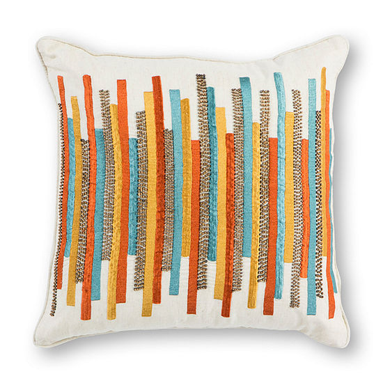 Kas Stripes Square Throw Pillow