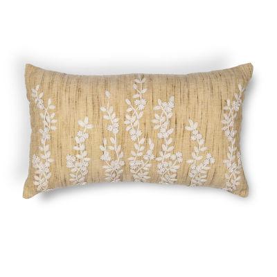 Kas Vines Rectangle Throw Pillow