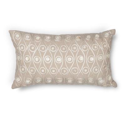 Kas Waves Rectangular Throw Pillow