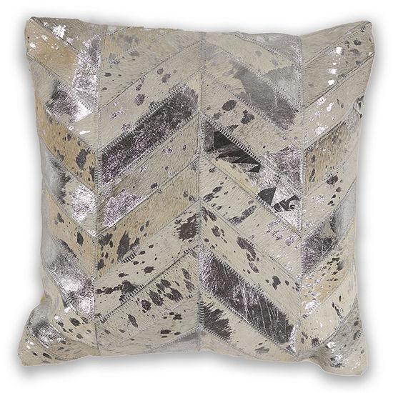 Kas Hide Square Throw Pillow