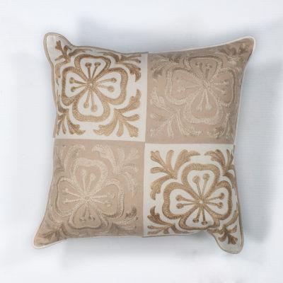 Kas Blocks Square Throw Pillow