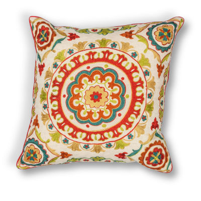 Kas Suzani Square Throw Pillow