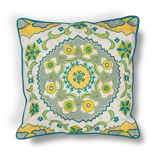 Kas Medalion Square Throw Pillow