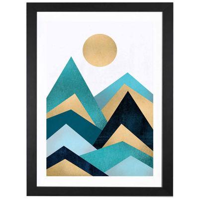 Waves by Elisabeth Fredriksson Black Framed Fine Art Paper Print