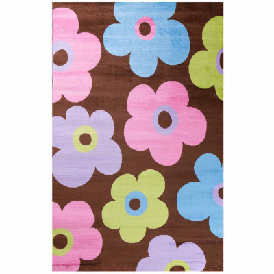 Concord Global Trading Alisa Collection Ditsy Flowers Rug