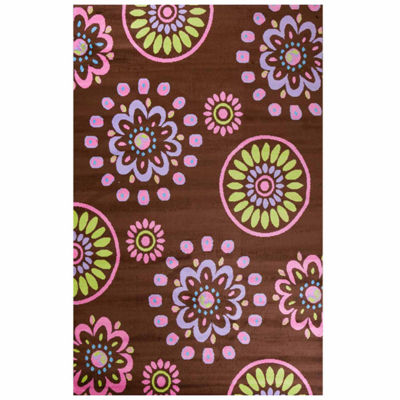 Concord Global Trading Alisa Collection Flower Kaleidoscope Rug