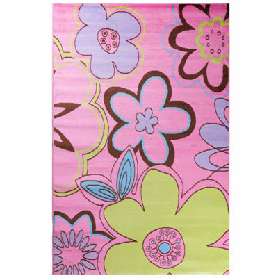 Concord Global Trading Alisa Collection Groovy Flowers Area Rug