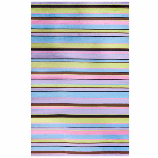 Concord Global Trading Alisa Collection Stripes Area Rug