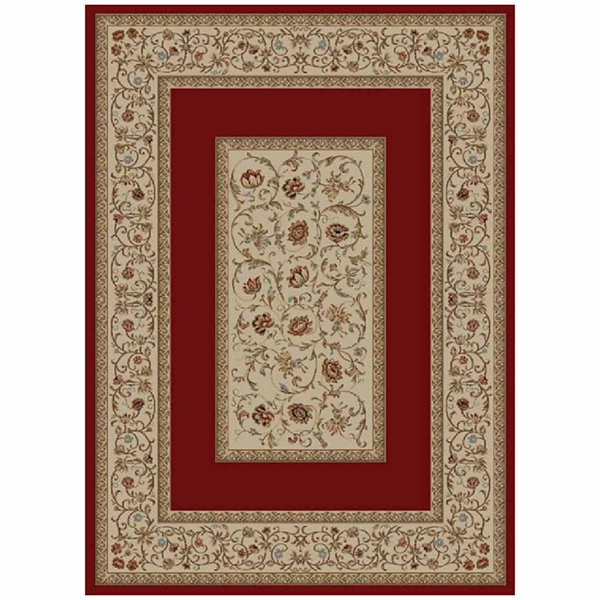 Concord Global Trading Ankara Collection Floral Border Area Rug