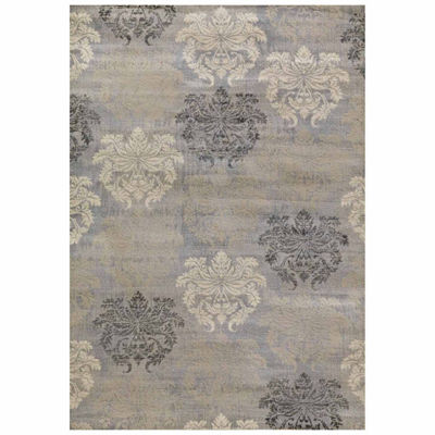 Concord Global Trading Lumina Collection Damask Area Rug