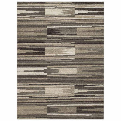 Concord Global Trading New Casa Collection Patch Stripes Area Rug
