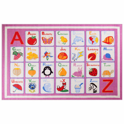 Concord Global Trading Fun Time Collection Alphabet Dreamy Area Rug