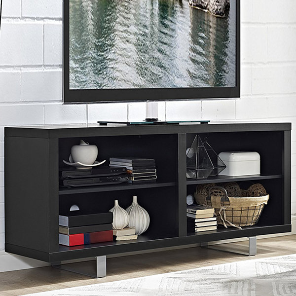 "58"" Simple Modern Console TV Stand with Metal Legs"