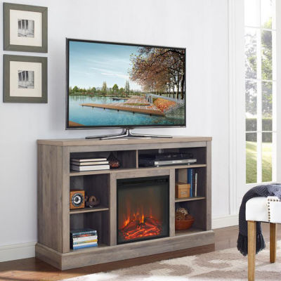 """52"""" Highboy Console TV Stand with Open Storage"""